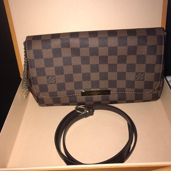 2d3511f4ac2d Authentic Louis Vuitton Favorite MM Damier ebene